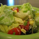 Rainy Day Pick-me-Up: Tomato, Corn, and Butter Lettuce Salad with Buttermilk Chive Dressing