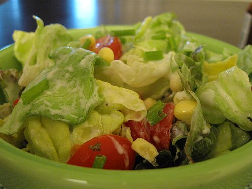 ... Corn, and Butter Lettuce Salad with Buttermilk Chive Dressing | The