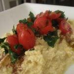 Raw Polenta with Marinated Cherry Tomatoes