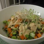 Quick and Nutritious Sprouted Lentil Salad