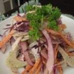 Fennel, Cabbage and Carrot Slaw with Poppyseed Dressing