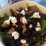 Raw, Vegan Spin on Beet and Goat Cheese Salad