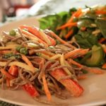 Sesame Noodles, Raw and Cooked