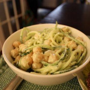 "Sea ""Spaghetti"" with Creamy Cashew Dill Sauce"