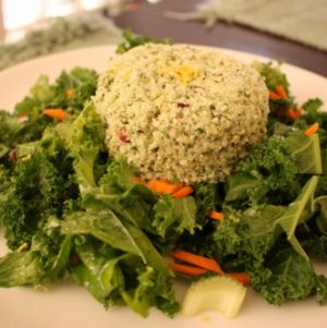 Weekend Lunch Menu: Cauliflower Rice with Mint and Pistachio