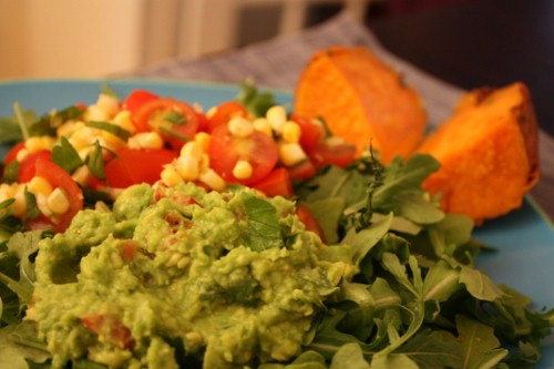 Lower fat green pea guac