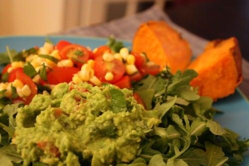 Lower fat green pea guac