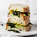 Avocado and Kabocha Squash Sandwich