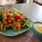 Weekend Lunch: Fuji Apple and Spinach Soup; Summer Berry Salad