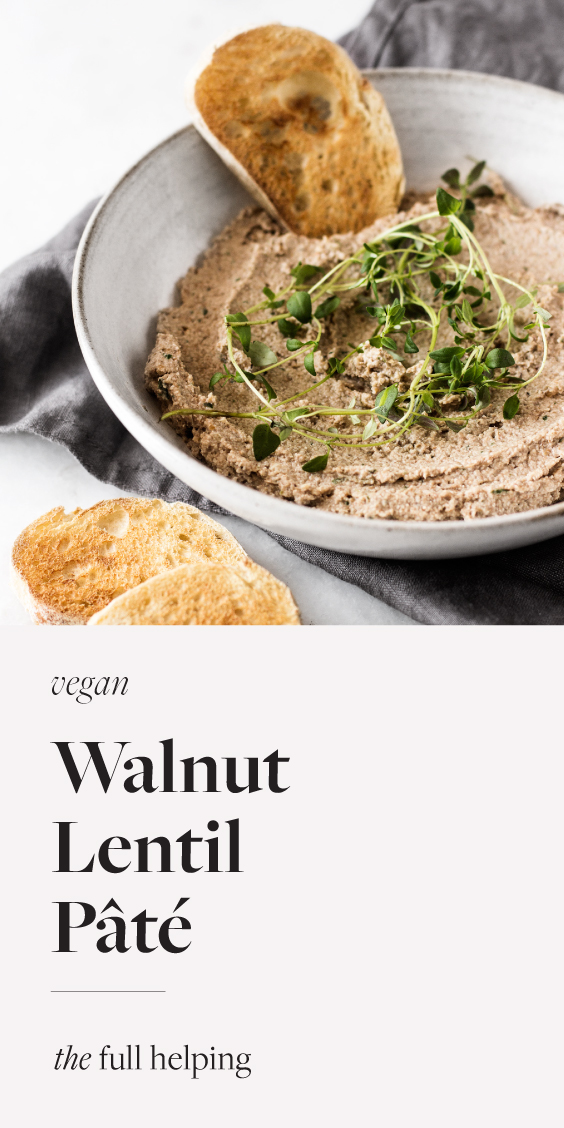 Vegan walnut lentil pate is so rich, creamy, and savory! An umami-packed plant-based dip. Perfect for entertaining and gathering with friends! #plantbased #vegan #glutenfree