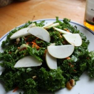 Golden Harvest Kale Salad