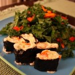 Raw Nori Rolls with Cashew Ginger Filling