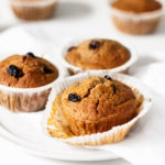 Vegan Carrot Raisin Bran Muffins