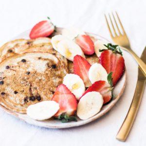 Vegan Carob Chip Pancakes