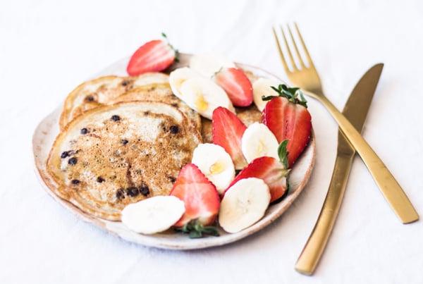 Vegan Carob Chip Pancakes   The Full Helping