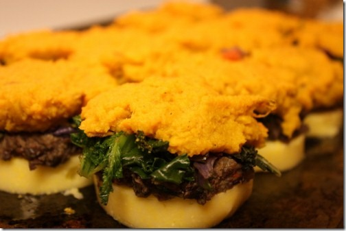 Savory Polenta Stacks with Black Beans and Greens