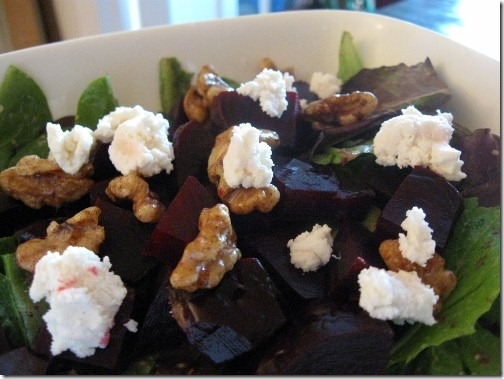 vegan goat cheese salad