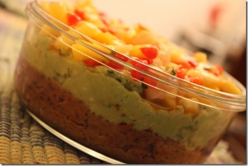 vegan three layer dip