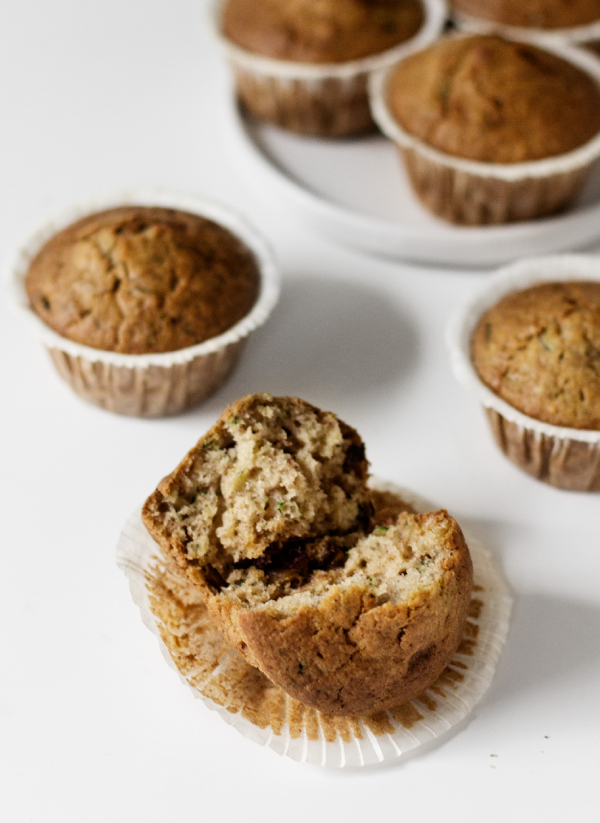 Vegan Zucchini Date Muffins | The Full Helping
