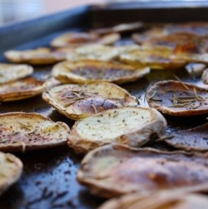 Gold Rush: Yukon Gold Potato Chips with Rosemary and Sea Salt
