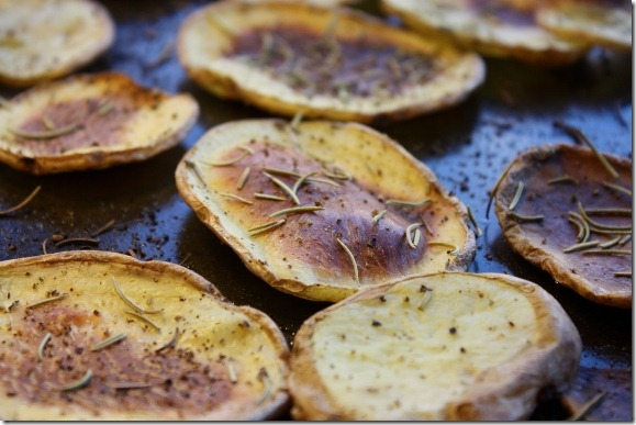 Yukon Gold Potato Chips with Rosemary and Sea Salt