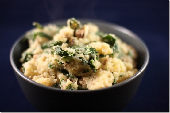 vegan colcannon with kale