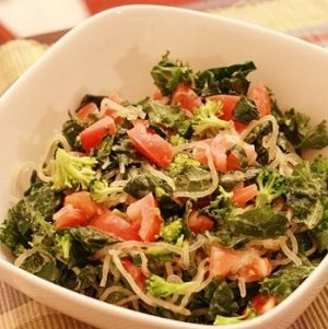 Kelp and Kale Bowl with Sweet Celery Dressing
