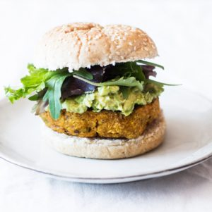 Ginger Lime Edamame Sweet Potato Burgers | The Full Helping