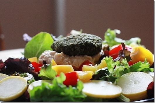 Raw Spinach Burgers