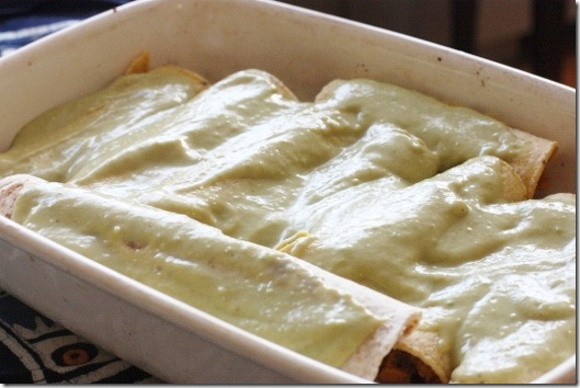 Vegan Sweet Potato and Black Bean Enchiladas