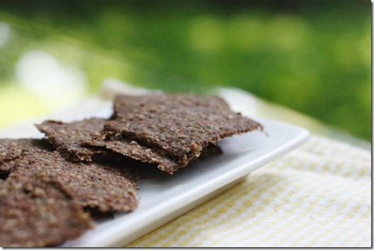 Gingery Carrot and Sunflower Seed Crackers