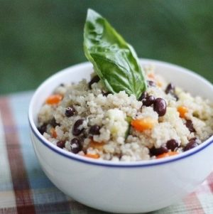 Black Bean and Quinoa Salad with Quick Cumin Dressing