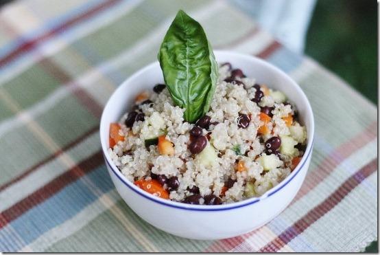 Black Bean and Quinoa Salad with Quick Cumin Dressing