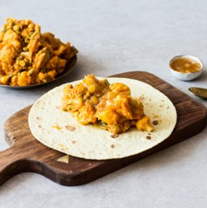 Indian Inspired Aloo Gobi Wraps