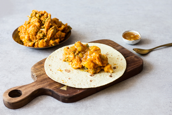 Indian Inspired Aloo Gobi Wraps | The Full Helping