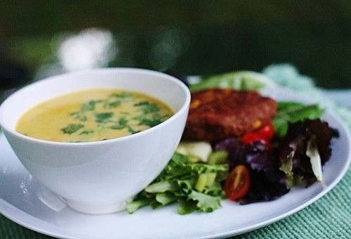 vegan Summer Corn and Coconut Soup