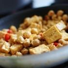 vegan tofu tahini scramble
