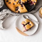 Peach and Blackberry Skillet Cake | The Full Helping