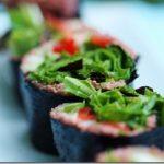 Raw Beet and Vegetable Stuffed Nori Rolls