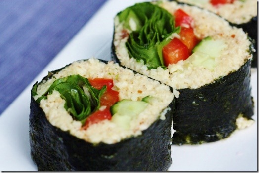 Raw Parsnip Sushi Rice