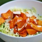 Zucchini Pasta with Roasted Butternut Squash and Creamy Garlic Sauce