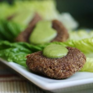 Raw, Vegan Cauliflower and Mesquite Falafel with Fresh Parsley Dressing