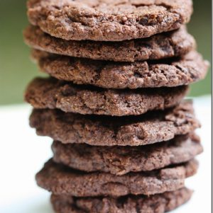 vegan double chocolate chunk cookies