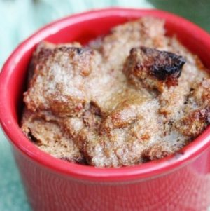 Vegan Banana Caramel Bread Pudding