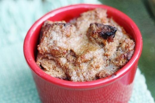 Vegan Banana Caramel Bread Pudding | The Full Helping