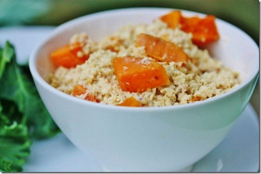 Creamy Coconut Parsnip Rice with Caramelized Butternut Squash