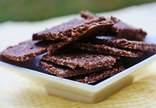 raw vegan cocoa crackers