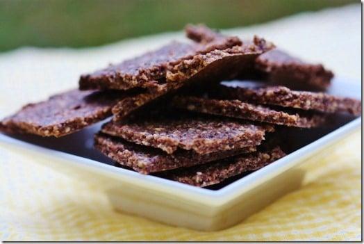 raw vegan cocoa crackers