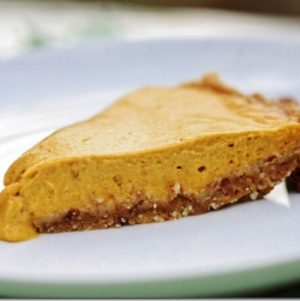 Raw, Vegan Pumpkin Pie