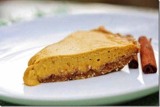Raw, Vegan Pumpkin Pie